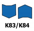 ATRAMINIAI ŽIEDAI, K83/K84