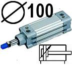 DNC serijos cilindrai pagal DIN ISO6431 (SC2M), Skersmuo 100 mm