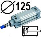 DNC serijos cilindrai pagal DIN ISO6431 (SC2M), Skersmuo 125 mm