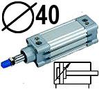 DNC serijos cilindrai pagal DIN ISO6431 (SC2M), Skersmuo 40 mm