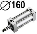 DNC serijos cilindrai pagal DIN ISO6431 (SC2M), Skersmuo 160 mm
